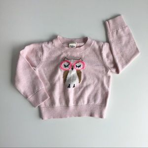 Oshkosh Pink Owl with Glasses Sweater - 18 mo